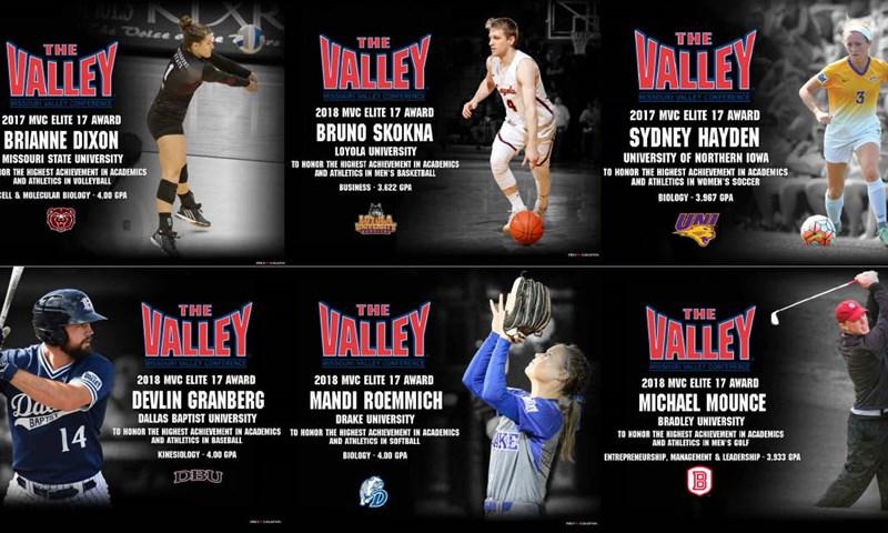 2017-18 Elite 17 Award Winners - Missouri Valley Conference